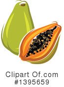 Papaya Clipart #1395659 by Vector Tradition SM