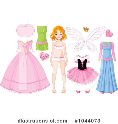 Royalty-Free (RF) Paper Doll Clipart Illustration by Pushkin - Stock Sample #1044073