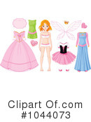 Royalty-Free (RF) Paper Doll Clipart Illustration #1044073
