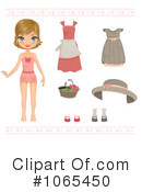 Paper Doll Clipart #1065450 by Melisende Vector
