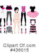 Royalty-Free (RF) Paper Doll Clipart Illustration #436015