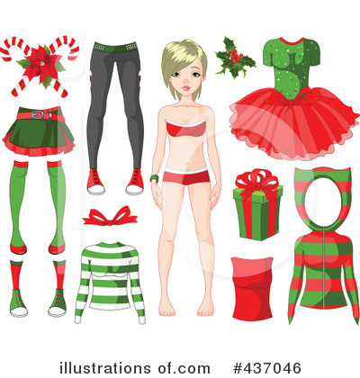 Paper Doll Clipart #437046 by Pushkin