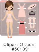 Royalty-Free (RF) Paper Doll Clipart Illustration #50139