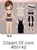 Royalty-Free (RF) Paper Doll Clipart Illustration #50142