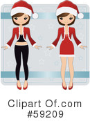 Royalty-Free (RF) Paper Doll Clipart Illustration #59209