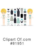 Royalty-Free (RF) Paper Doll Clipart Illustration #81951