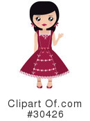 Royalty-Free (RF) Paper Dolls Clipart Illustration #30426