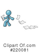 Paper Trail Clipart #220081 by Leo Blanchette