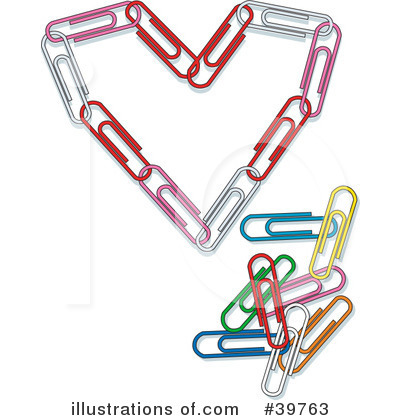 Paperclips Clipart #39763 by Dennis Holmes Designs