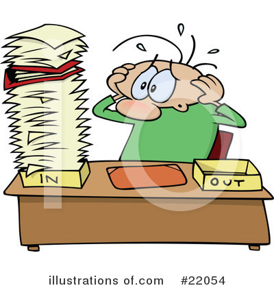 Royalty-Free (RF) Paperwork Clipart Illustration by gnurf - Stock Sample #22054