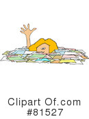Royalty-Free (RF) Paperwork Clipart Illustration #81527