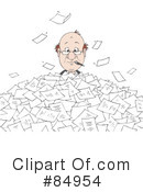 Royalty-Free (RF) Paperwork Clipart Illustration #84954