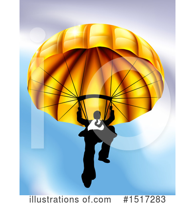 Parachute Clipart #1517283 by AtStockIllustration
