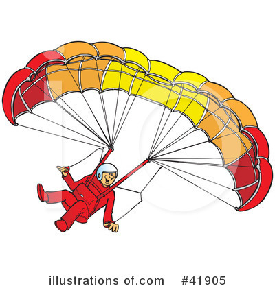 Paragliding Clipart #41905 - Illustration by Snowy