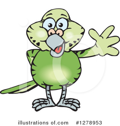 Parakeet Clipart #1278953 by Dennis Holmes Designs