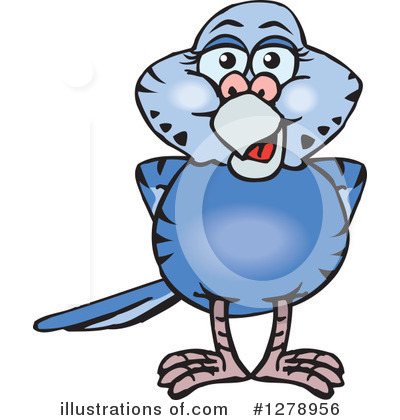 Parakeet Clipart #1278956 by Dennis Holmes Designs