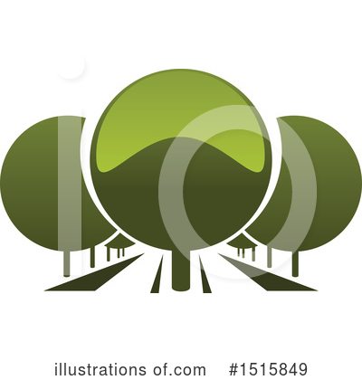 Trees Clipart #1515849 by Vector Tradition SM