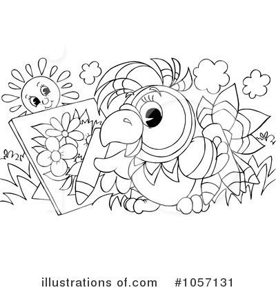Royalty-Free (RF) Parrot Clipart Illustration by Alex Bannykh - Stock Sample #1057131