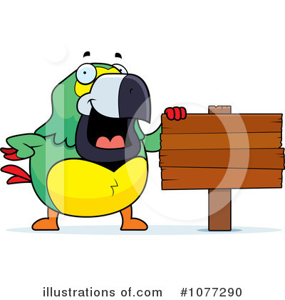 Parrot Clipart #1077290 by Cory Thoman