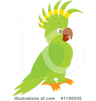 Parrot Clipart #1100035 by Alex Bannykh