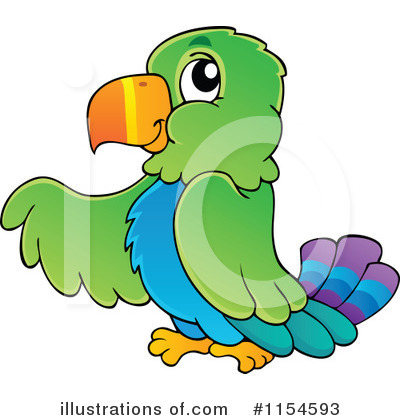 Royalty-Free (RF) Parrot Clipart Illustration by visekart - Stock Sample #1154593