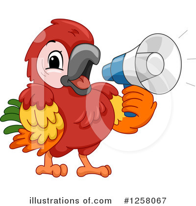 Parrot Clipart #1258067 by BNP Design Studio