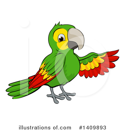 Parrot Clipart #1409893 by AtStockIllustration