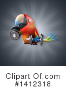 Parrot Clipart #1412318 by Julos