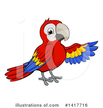 Parrot Clipart #1417716 by AtStockIllustration