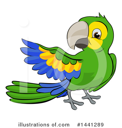 Parrot Clipart #1441289 by AtStockIllustration