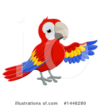 Parrot Clipart #1446280 by AtStockIllustration