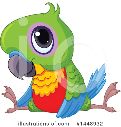 Parrot Clipart #1448932 by Pushkin