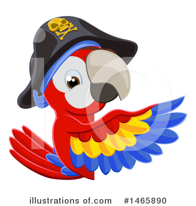 Parrot Clipart #1465890 by AtStockIllustration