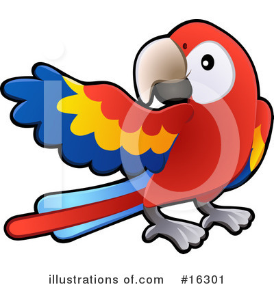Parrot Clipart #16301 by AtStockIllustration