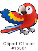 Royalty-Free (RF) parrot Clipart Illustration #16301