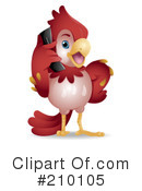 Royalty-Free (RF) parrot Clipart Illustration #210105