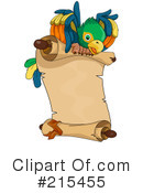 Royalty-Free (RF) Parrot Clipart Illustration #215455
