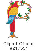 Royalty-Free (RF) Parrot Clipart Illustration #217551