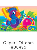 Royalty-Free (RF) Parrot Clipart Illustration #30495