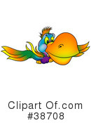Royalty-Free (RF) Parrot Clipart Illustration #38708