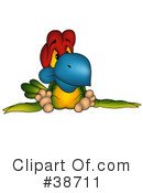 Royalty-Free (RF) Parrot Clipart Illustration #38711
