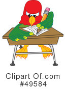 Parrot Mascot Clipart #49584 by Toons4Biz
