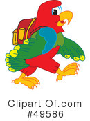 Parrot Mascot Clipart #49586 by Toons4Biz