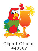 Parrot Mascot Clipart #49587 by Toons4Biz