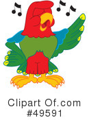 Parrot Mascot Clipart #49591 by Toons4Biz