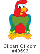 Parrot Mascot Clipart #49593 by Toons4Biz