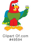 Parrot Mascot Clipart #49594 by Toons4Biz