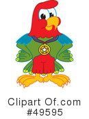 Parrot Mascot Clipart #49595 by Toons4Biz