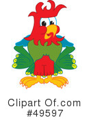 Parrot Mascot Clipart #49597 by Toons4Biz