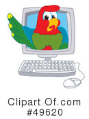 Parrot Mascot Clipart #49620 by Toons4Biz